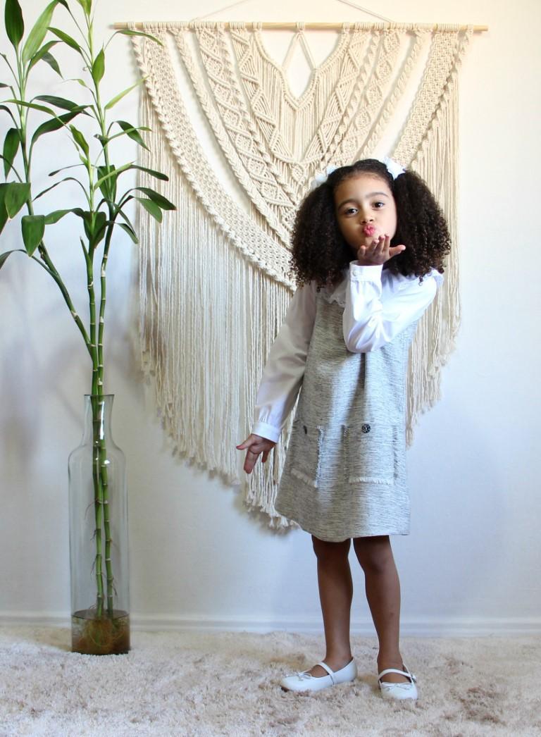 Vestido tubinho de tweed