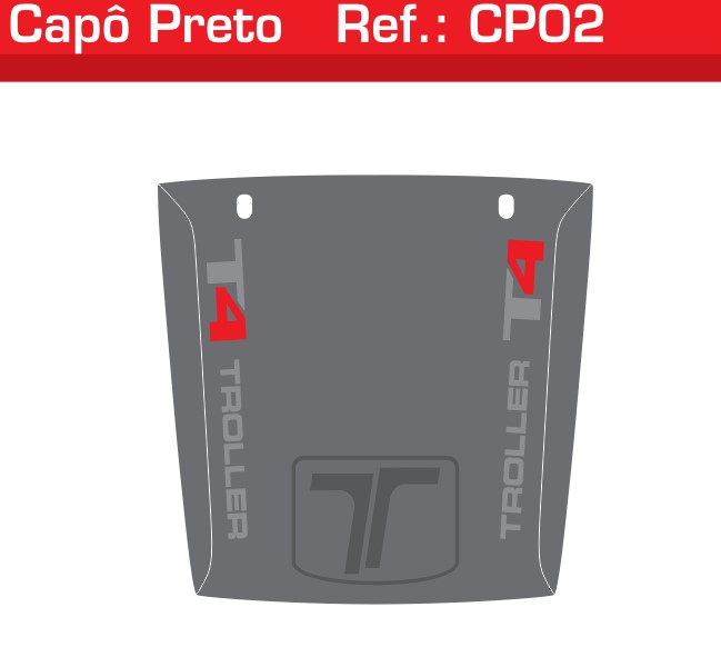 Adesivo Capô T4 Cinza Jateado - CP02