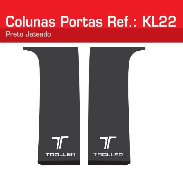 Adesivo Colunas Portas Branco Jateado - KL22-BRANCO