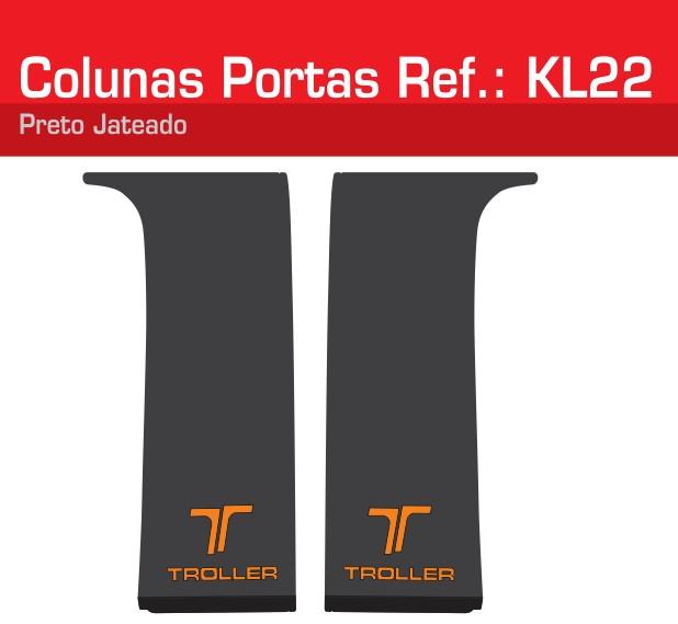 Adesivo Colunas Portas Laranja Jateado - KL22-LARANJA