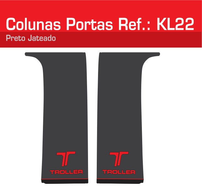 Adesivo Colunas Portas Vermelho Jateado - KL22-VERMELHO