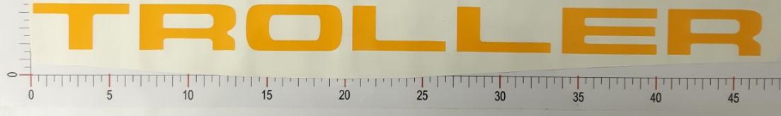 Adesivo Letras Grade Amarelo - LG10-AMARELO