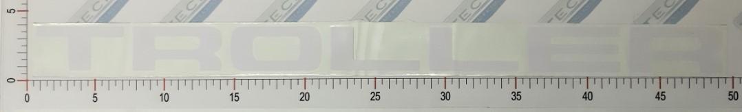 Adesivo Letras Grade Branco - LG10-BRANCO