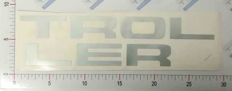Adesivo Letras Grade Cinza - LG10-CINZA