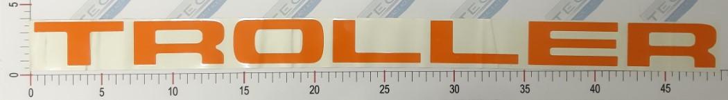 Adesivo Letras Grade Laranja - LG10-LARANJA
