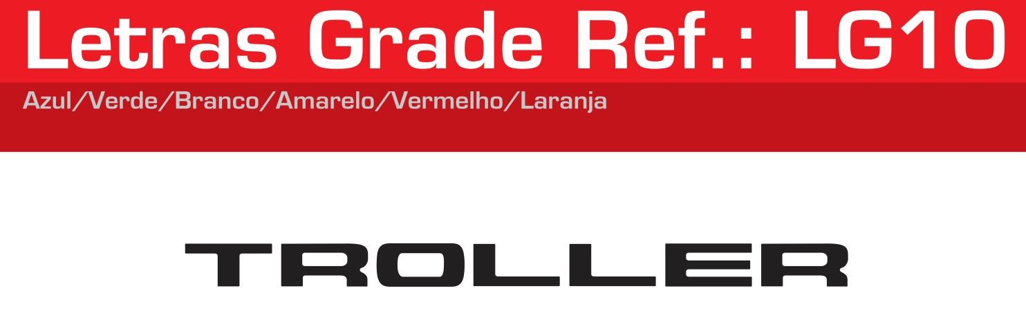 Adesivo Letras Grade Preto - LG10-PRETO