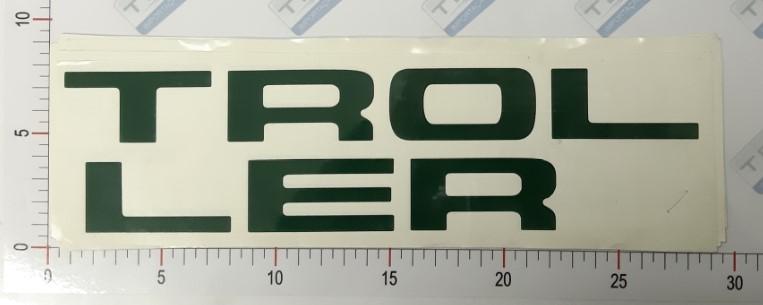 Adesivo Letras Grade Verde Escuro - LG10-VERDEESCURO