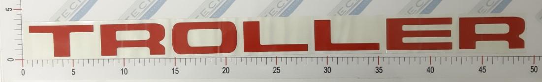 Adesivo Letras Grade Vermelho - LG10-VERMELHO