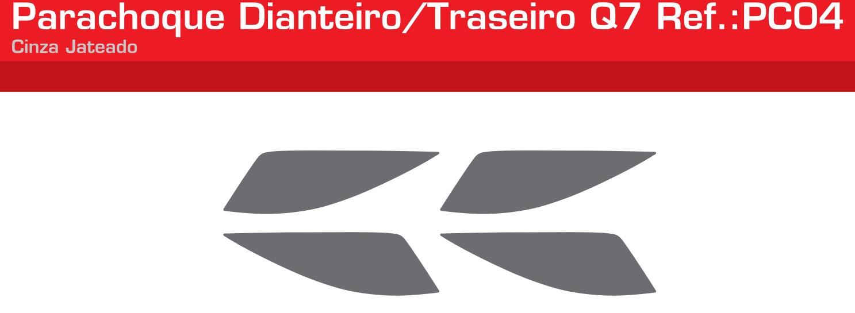 Adesivo Parachoque Dianteiro / Traseiro Cinza Jateado - PC04-LISO