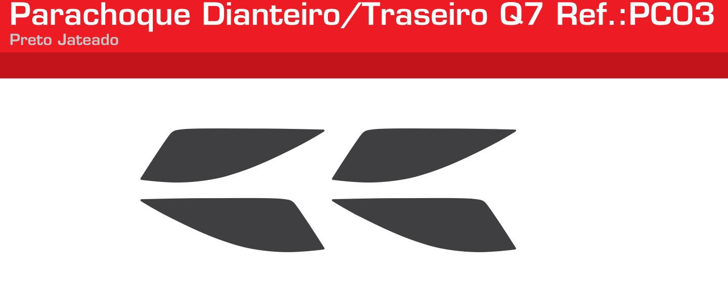 Adesivo Parachoque Liso Dianteiro / Traseiro Preto Jateado - PC03-LISO