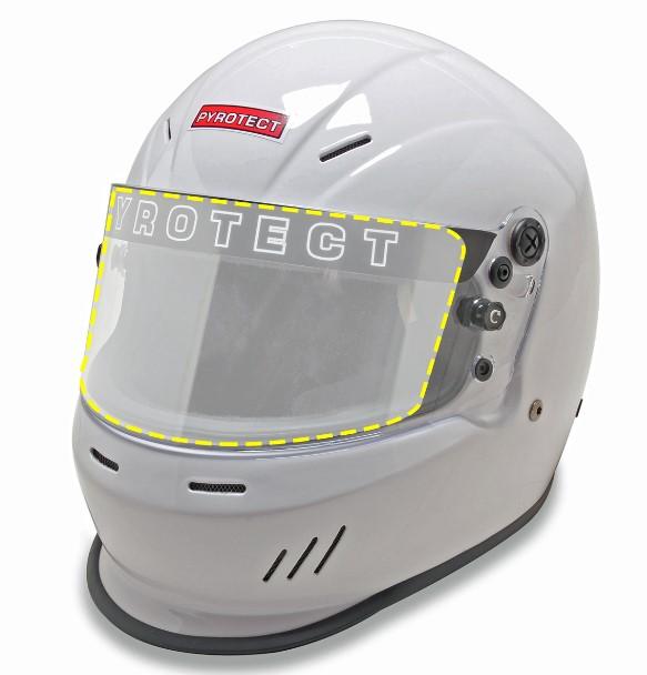 Pelicula protetora de viseira Anti Risco Para Capacete Pyrotect - TREK-PEL13