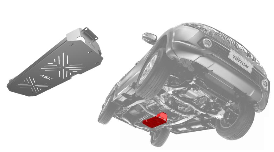 Protetor do Tanque de Combustivel 75L Reforçado ADX para Nova Triton L200 Sport 2017 em diante - AD#505.SU