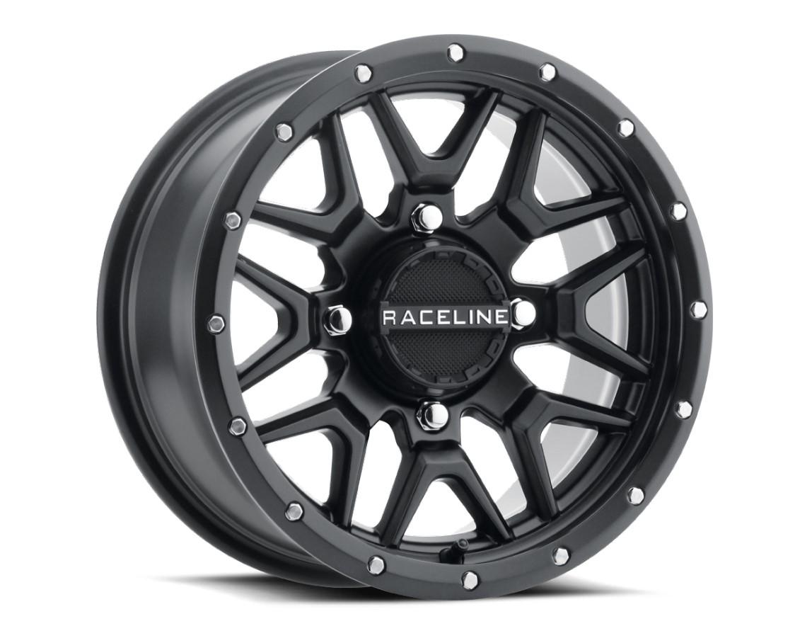 Roda RaceLine Krank Black 14x7 4x137 +10mm Maverick X3 Sem Beadlock - TREK-RRLKBMX3