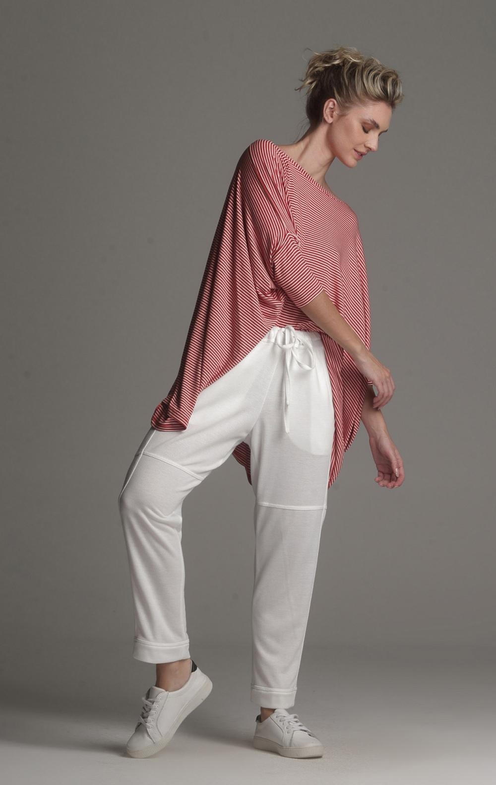 Blusa Ampla Malha Listrada - Foto 1