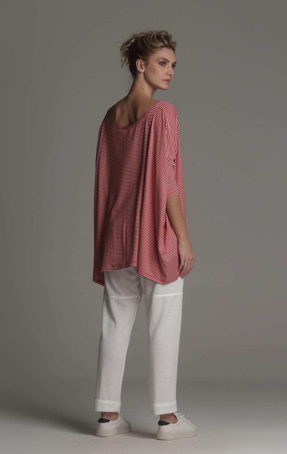 Blusa Ampla Malha Listrada - Foto 3