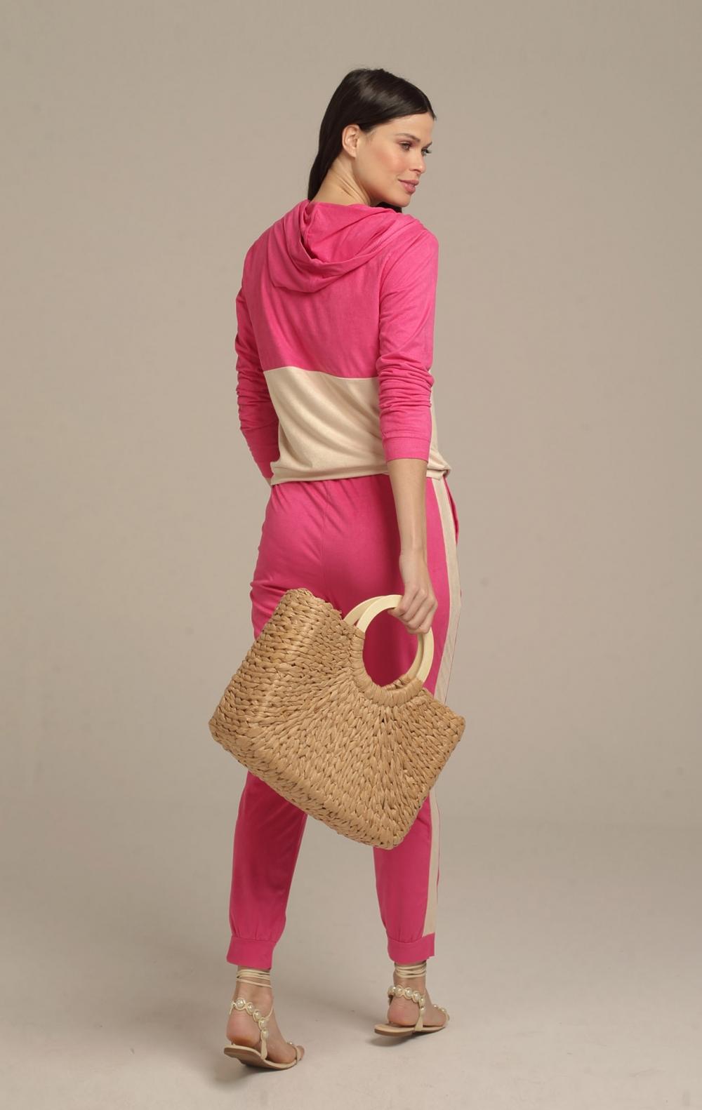 Blusa Capuz Suede Pink - Foto 2