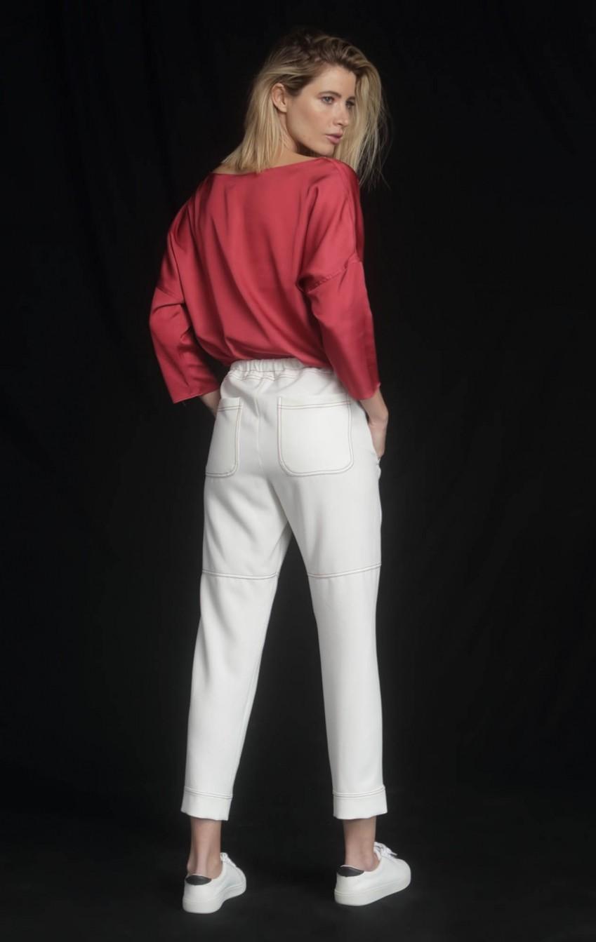 Blusa Cetim Picasso Vermelha - Foto 2