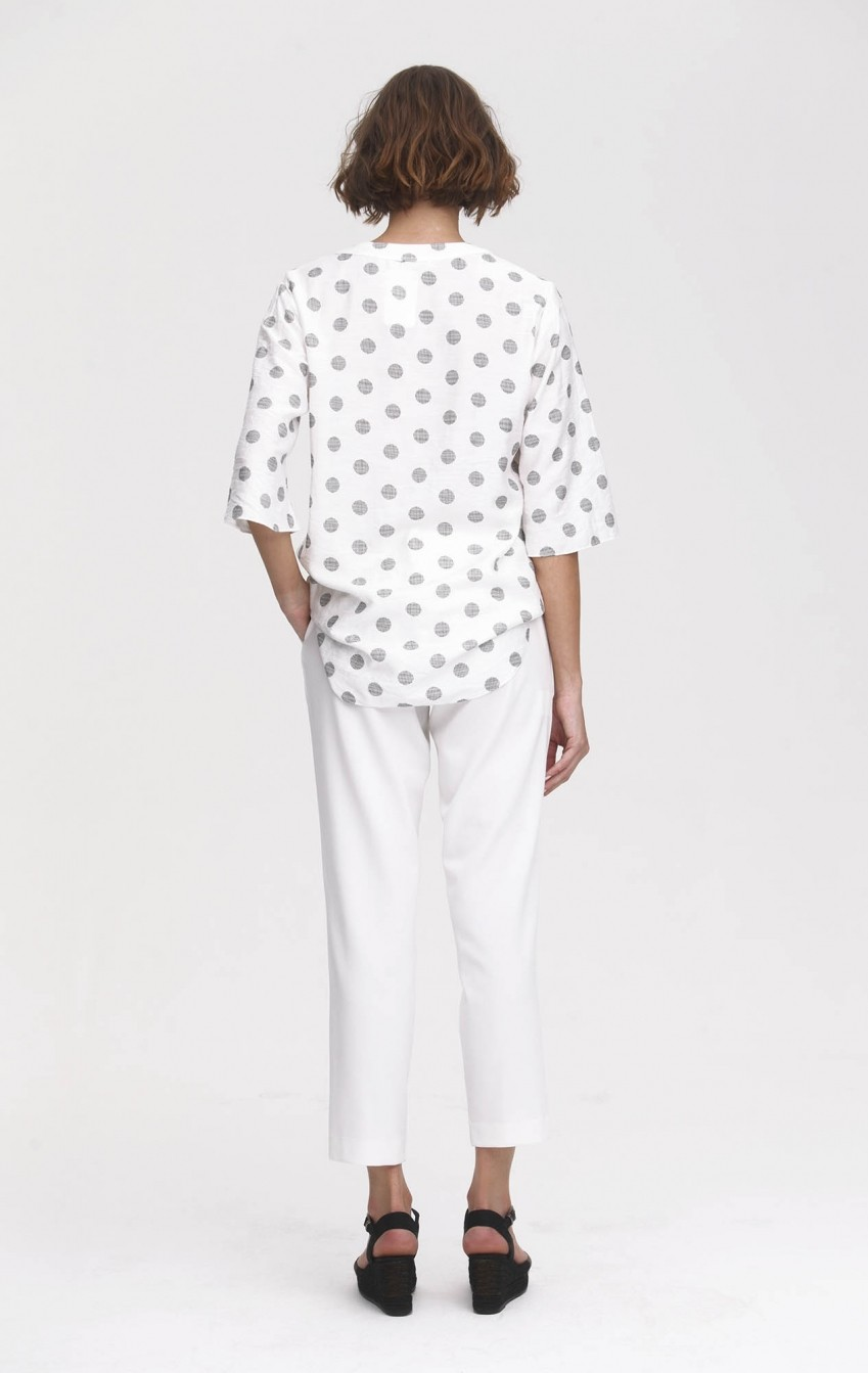 Blusa Crepe Estela Off White  - Foto 2