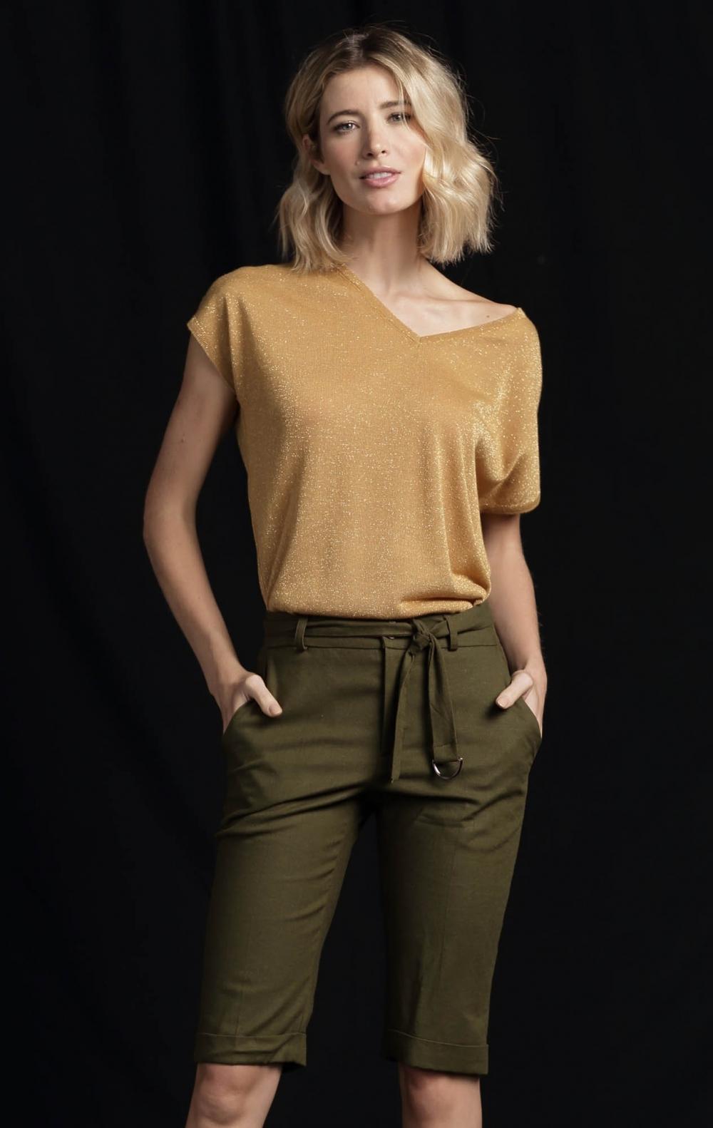 Blusa Lurex Dourada - Foto 1