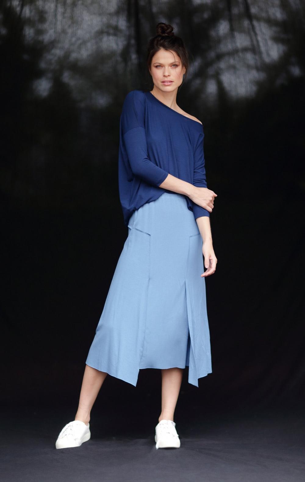 Blusa Malha Sophia Azul  - Foto 1