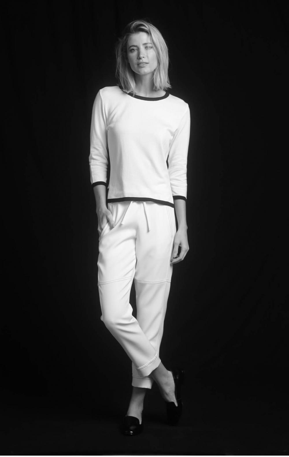 Blusa Tricot Bicolor Off White - Foto 1