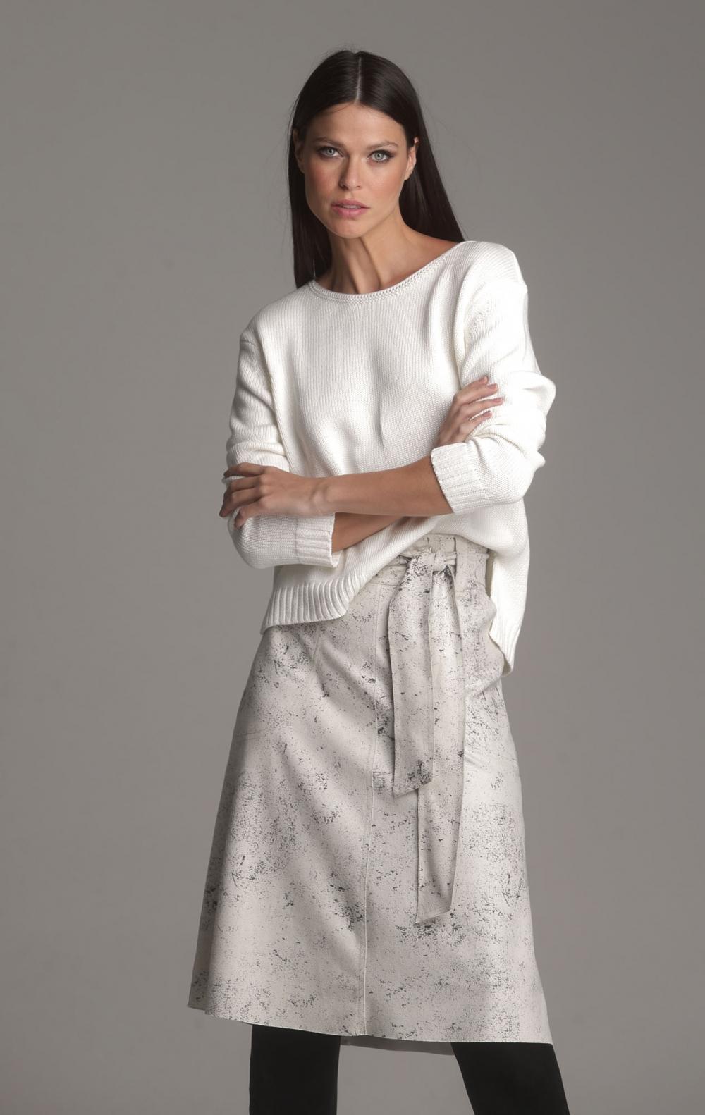 Blusa Tricot Tania Off White - Foto 1
