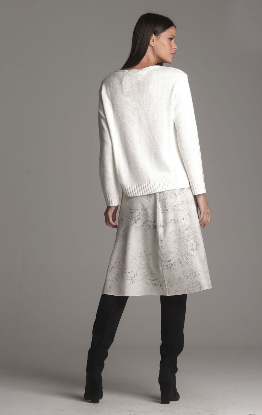 Blusa Tricot Tania Off White - Foto 2
