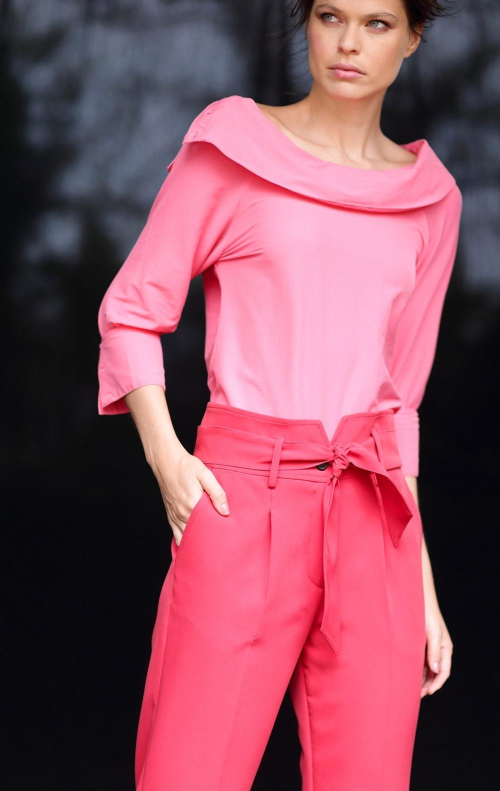 Blusa Tricoline Vivian Rosa - Foto 2