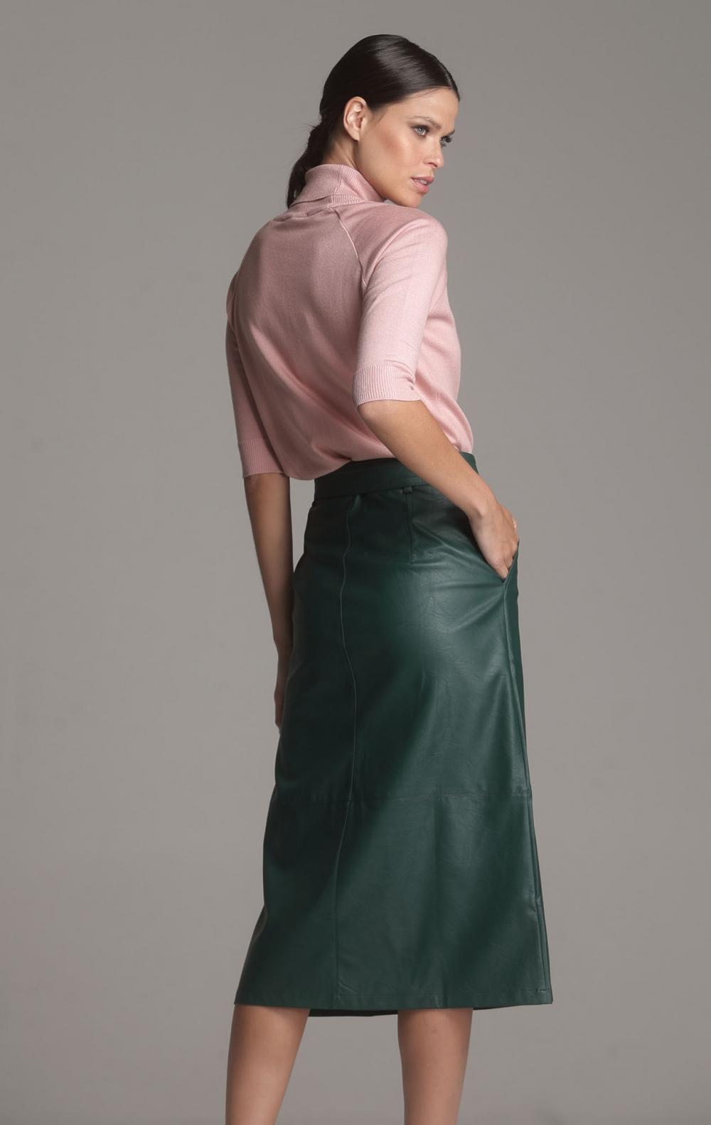 Blusa Tricot Gola Rosa  - Foto 2