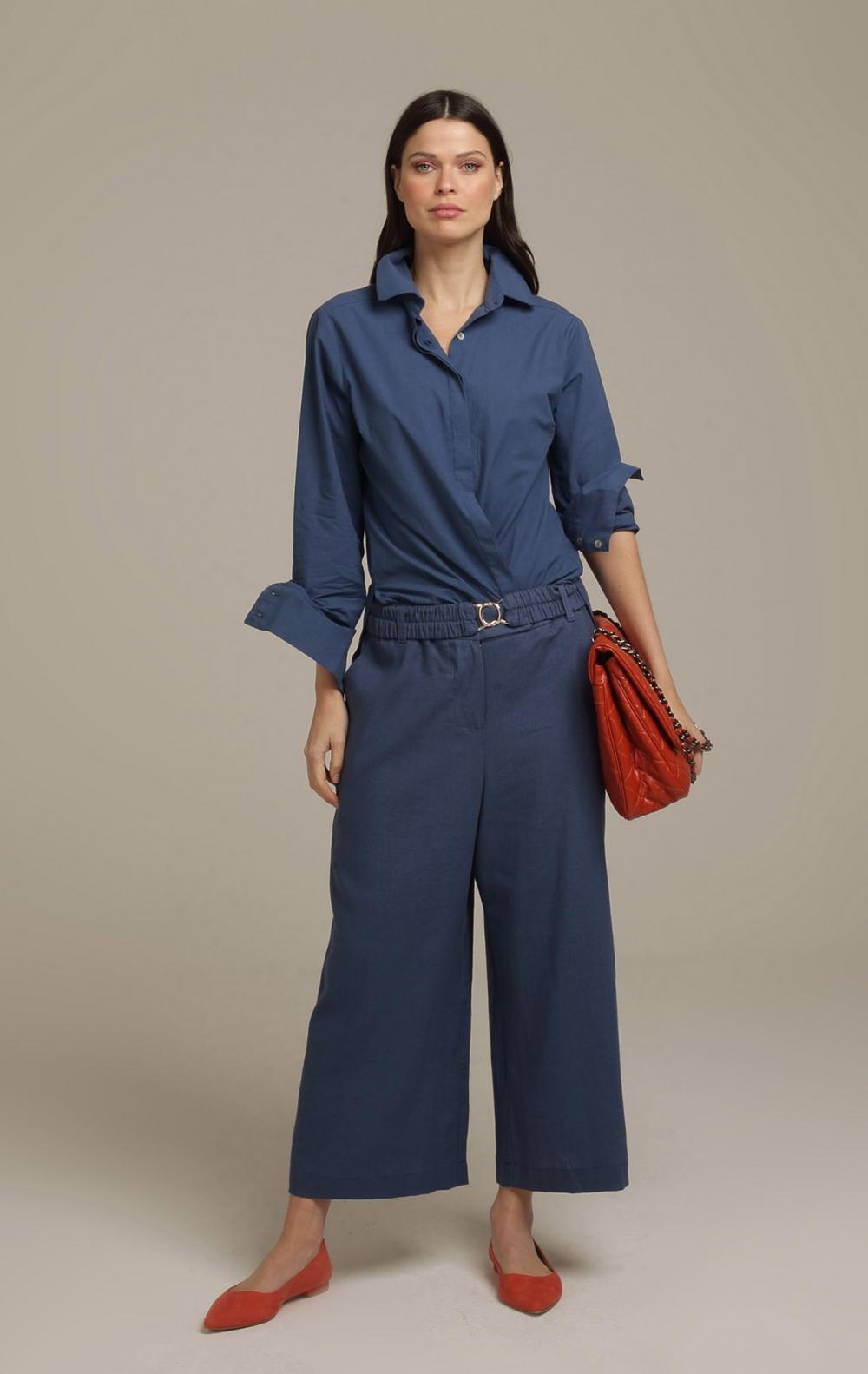 Calça AG Pantacourt Blue Jeans - Foto 1