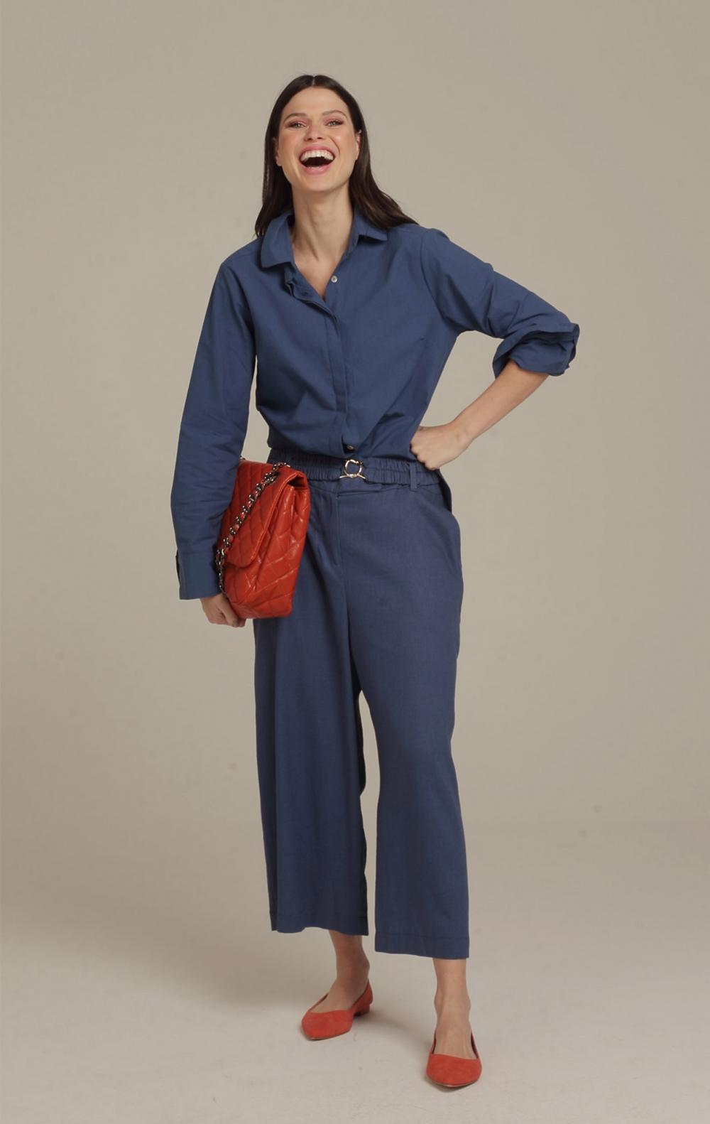 Calça AG Pantacourt Blue Jeans - Foto 2