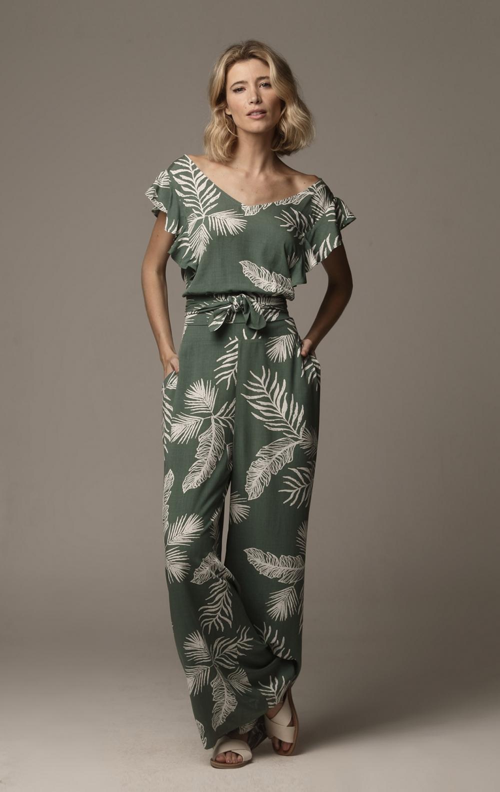 Calça Carol Elástico Verde - Foto 1