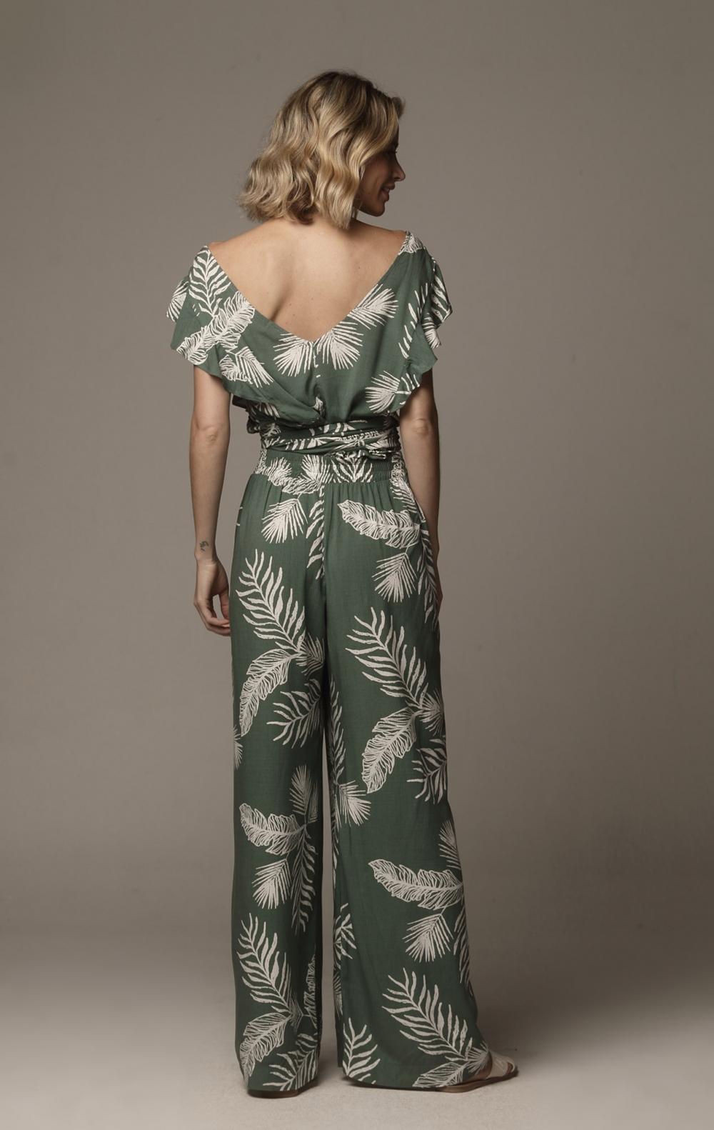 Calça Carol Elástico Verde - Foto 2