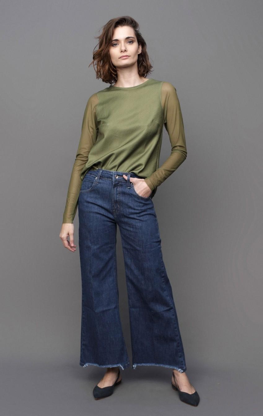 Calça CB Jeans Escuro - Foto 1