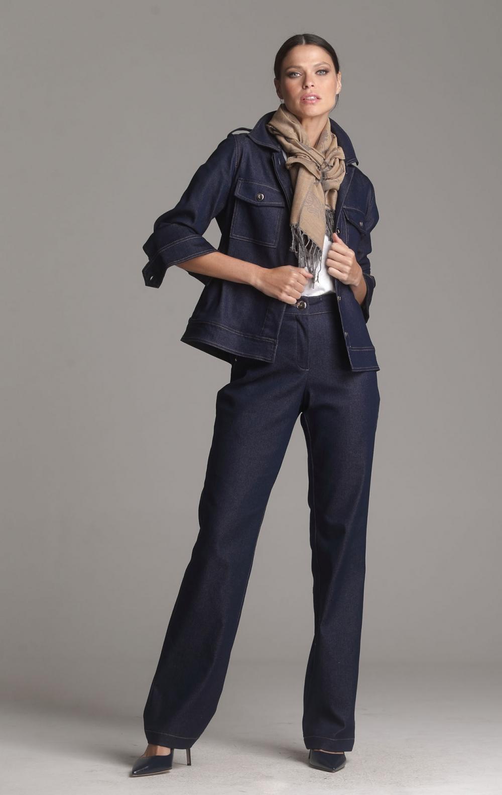Calça Jeans Denise Azul - Foto 1