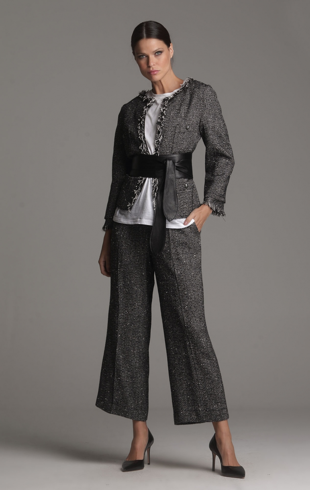 Calça Pantacourt Tweed Passion - Foto 2