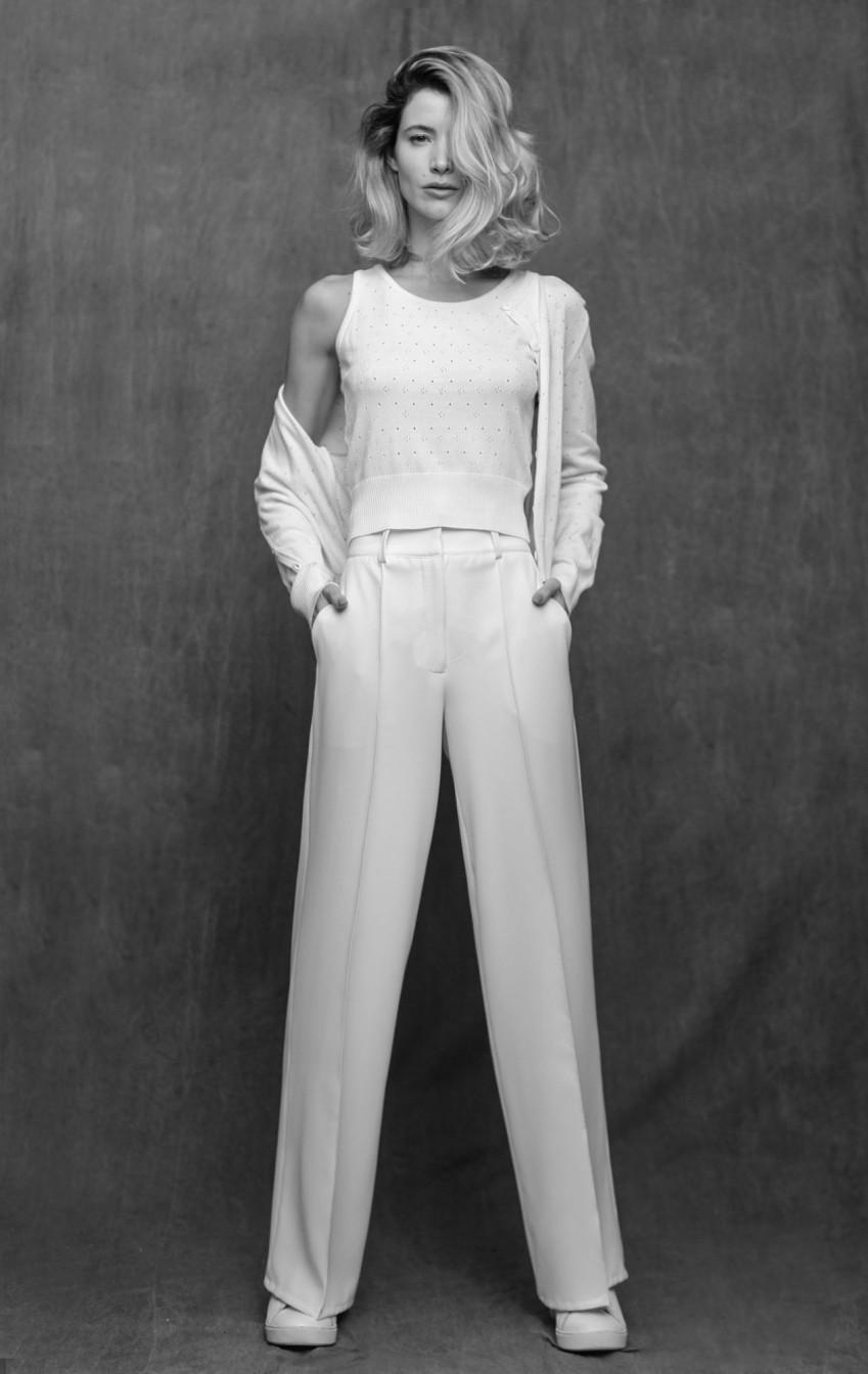 Calça Pantalona CB Off White - Foto 1
