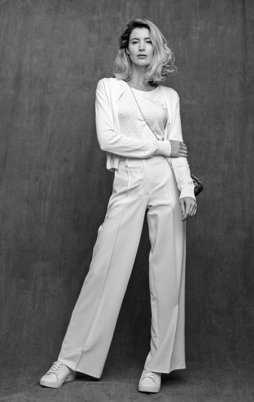 Calça Pantalona CB Off White - Foto 2