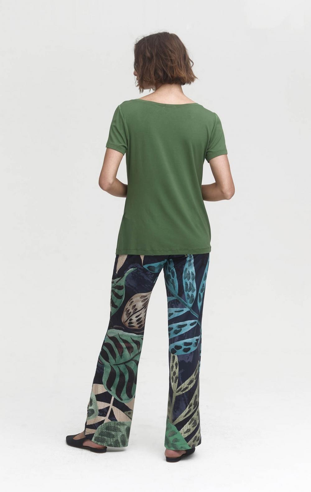 Calça Pantalona Malha Deise Estampada  - Foto 2