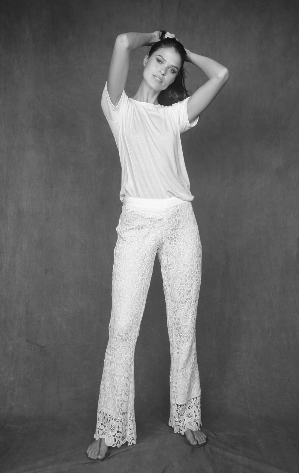 Calça Renda Off White - Foto 1