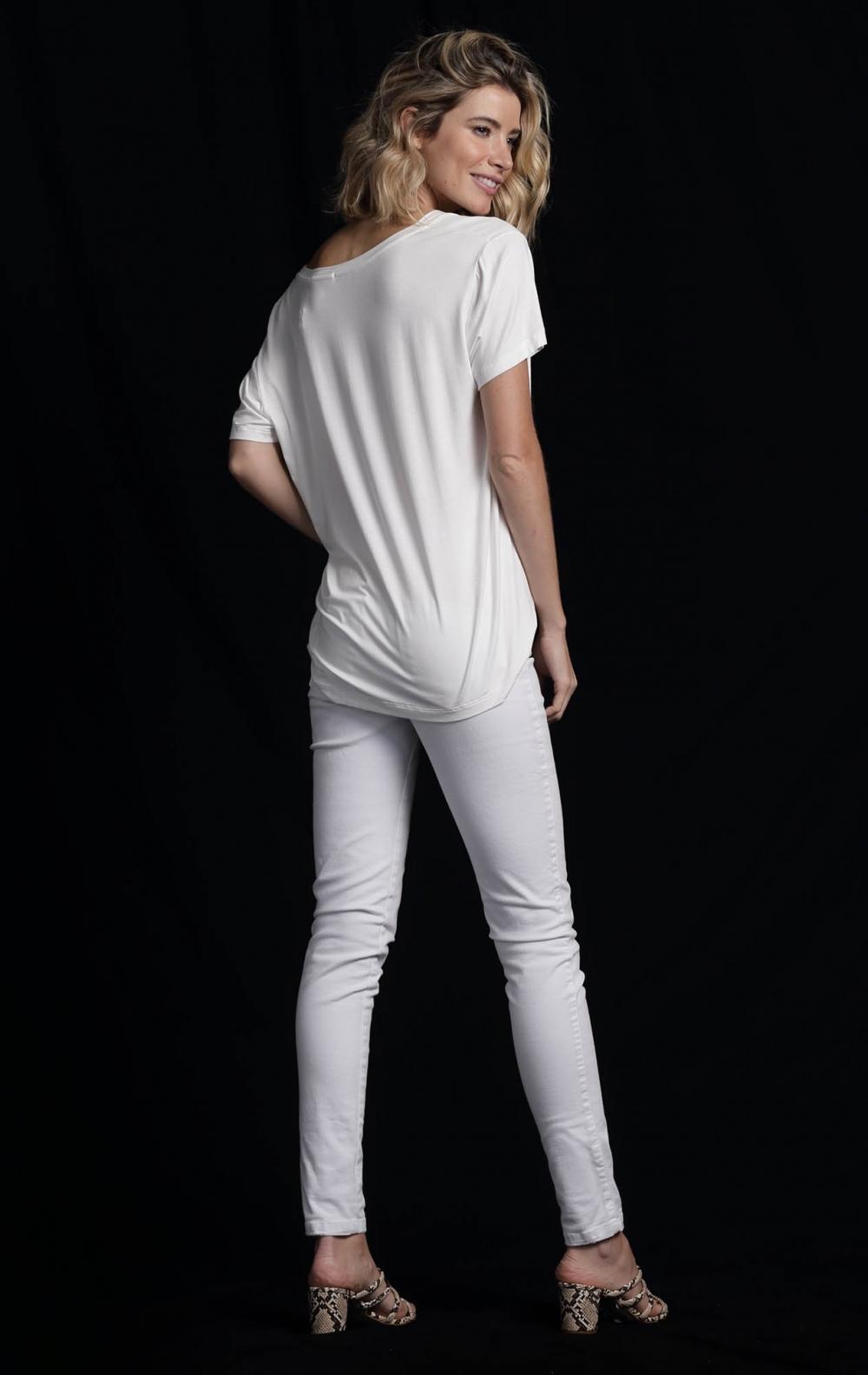 Calça Skinny Sarja Branca - Foto 3