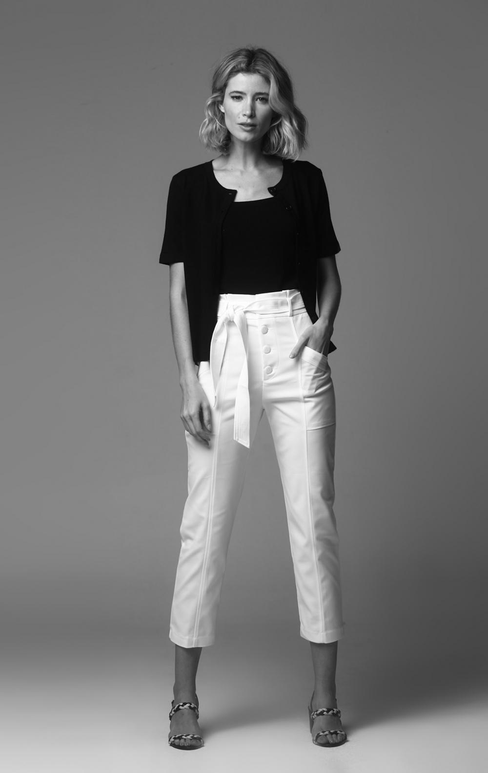 Calça Vanessa Off White - Foto 1