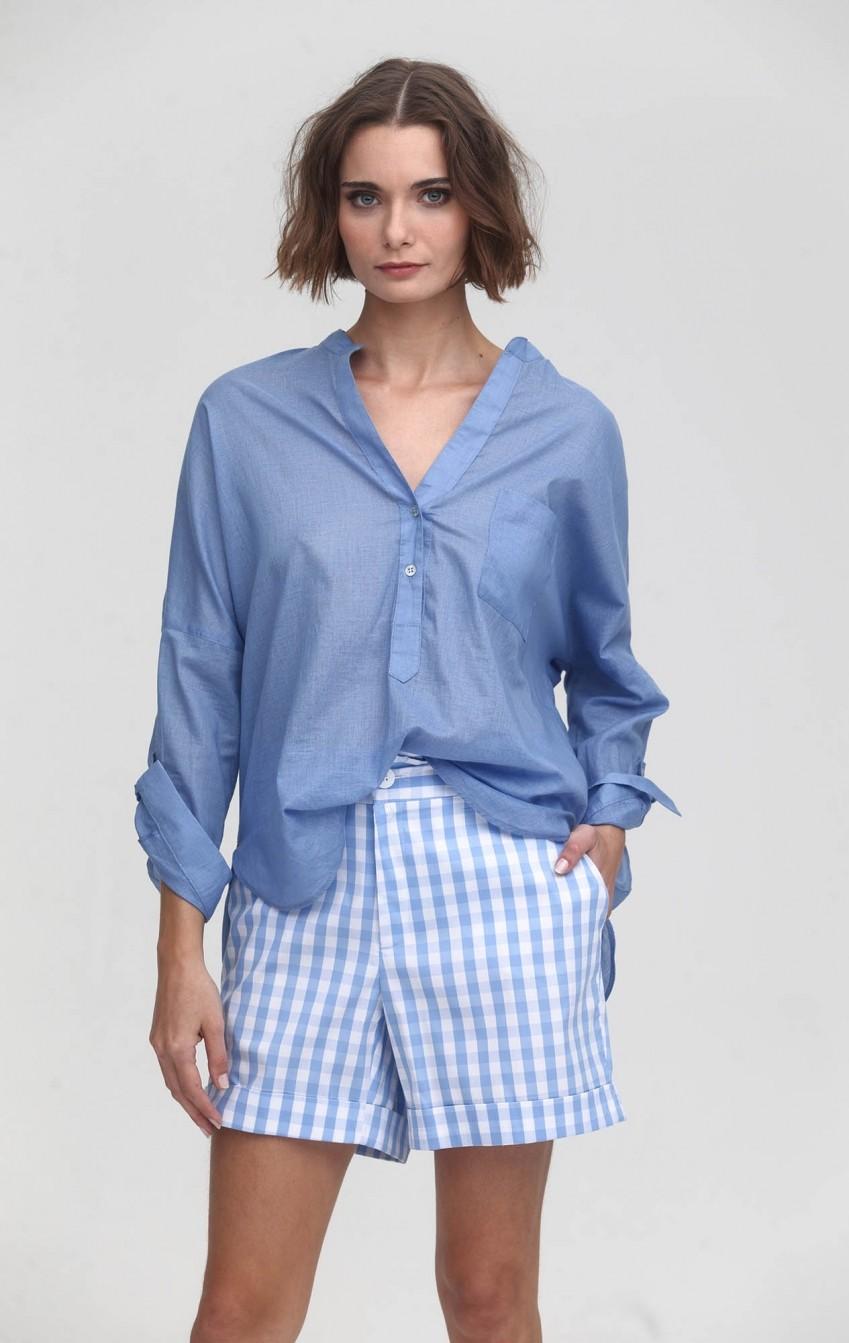 Camisa CB Voil Douro Azul - Foto 1