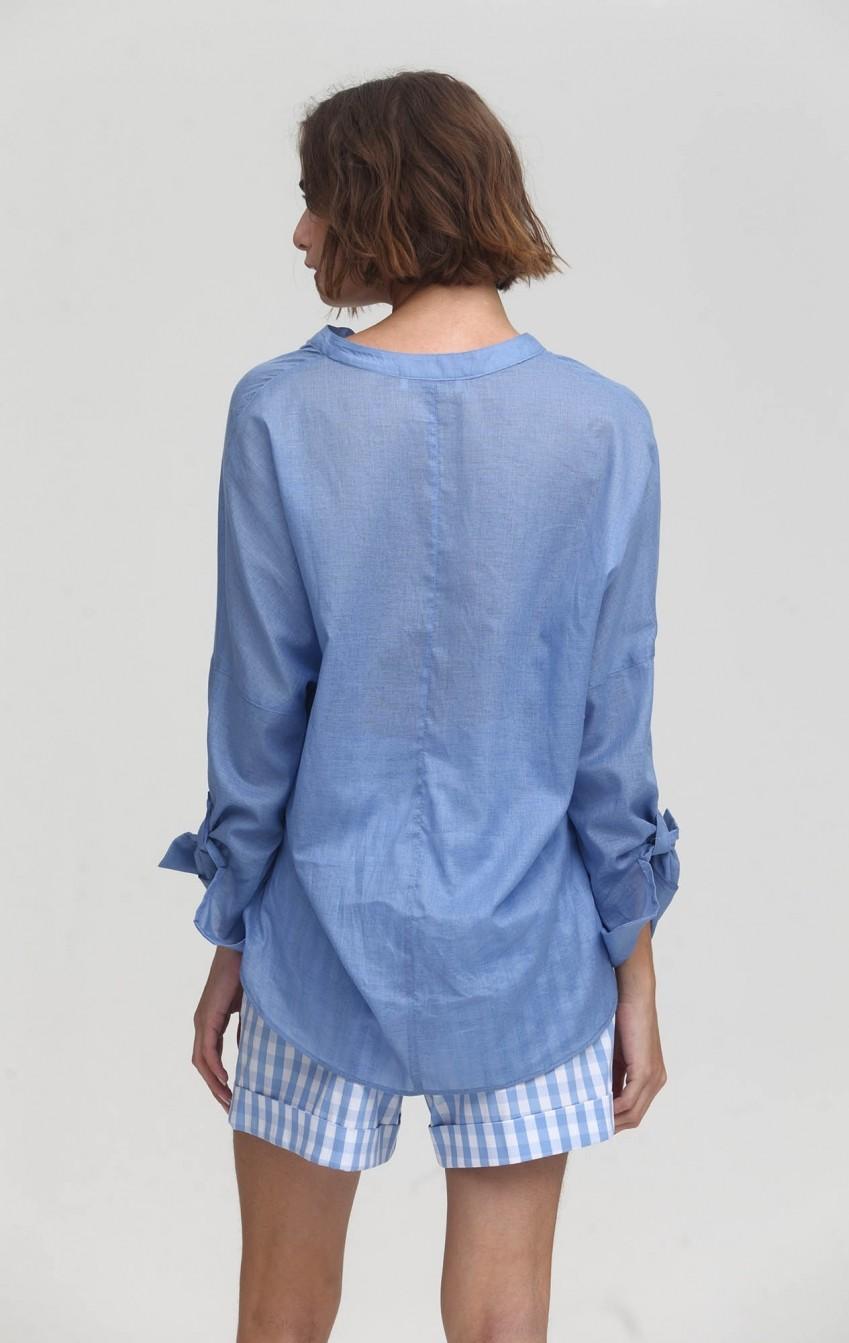 Camisa CB Voil Douro Azul - Foto 2