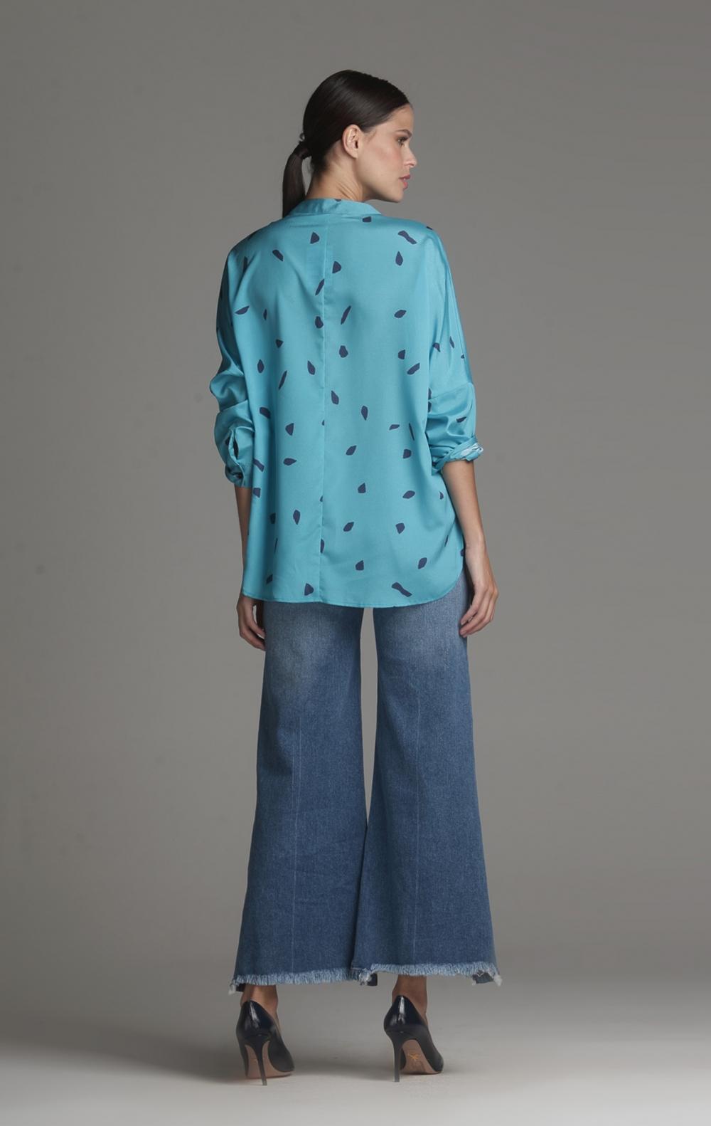 Camisa Cetim Douro Azul - Foto 2