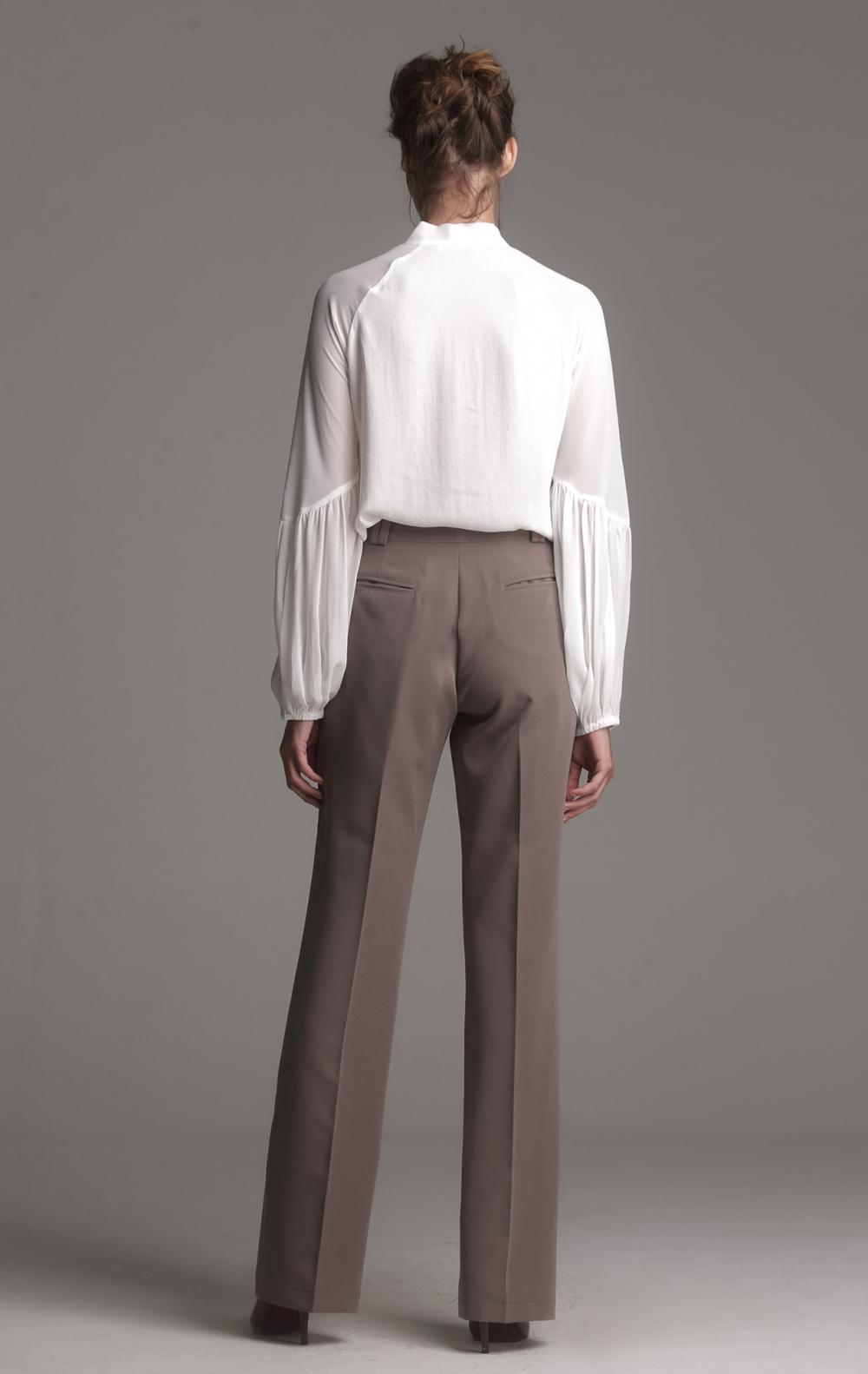Camisa Double Chiffon Off White  - Foto 2