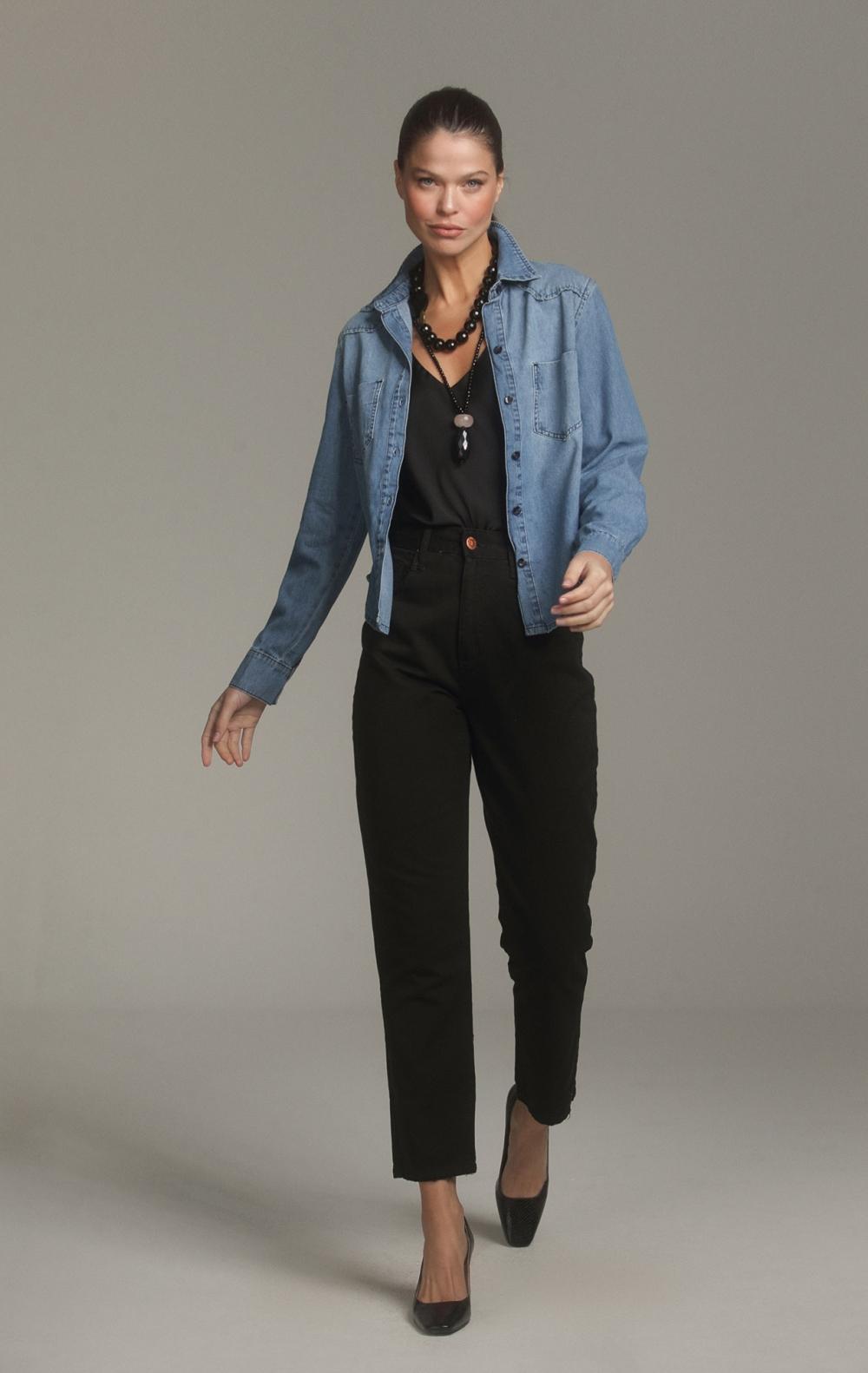 Camisa Jeans - Foto 1
