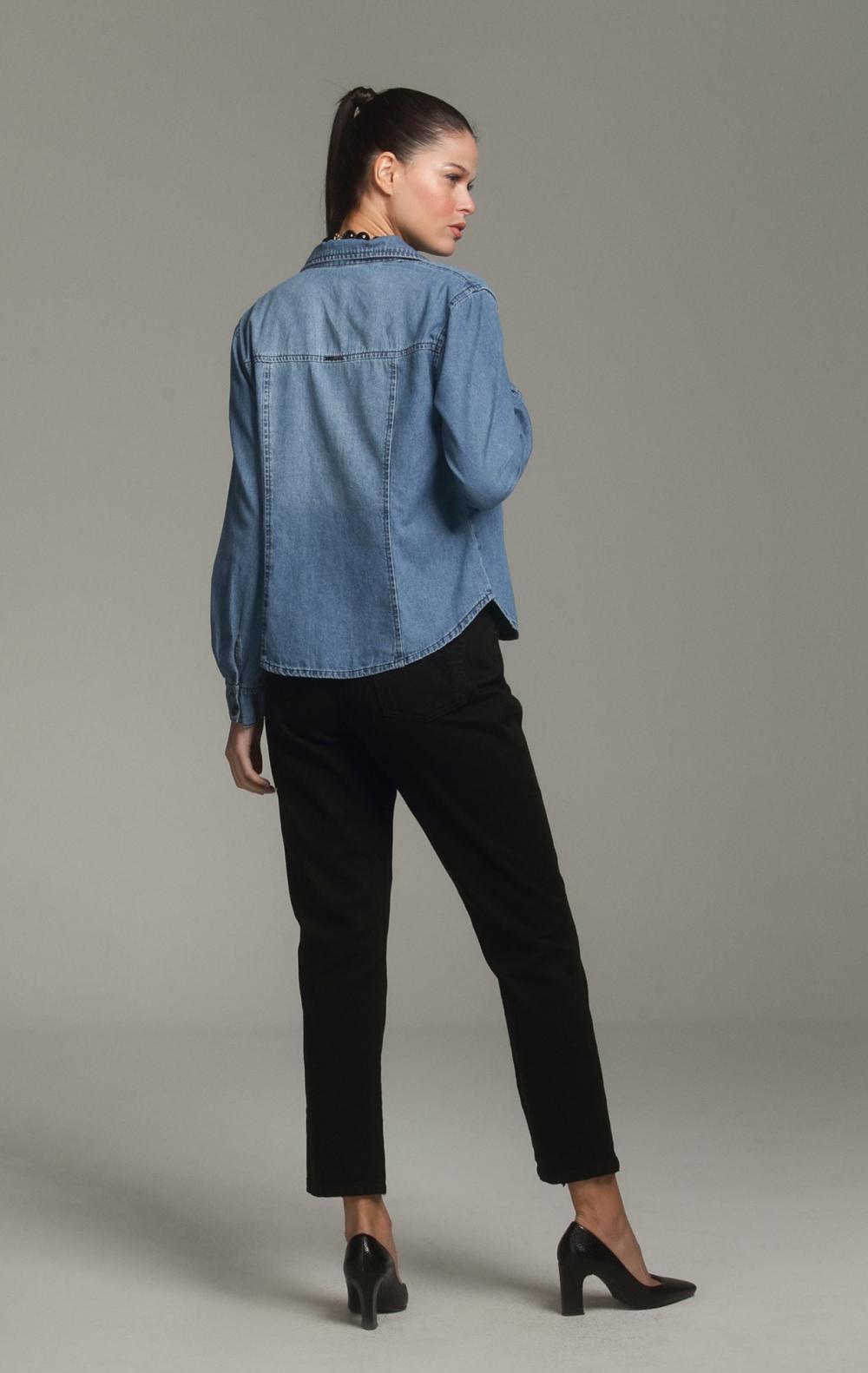 Camisa Jeans - Foto 2