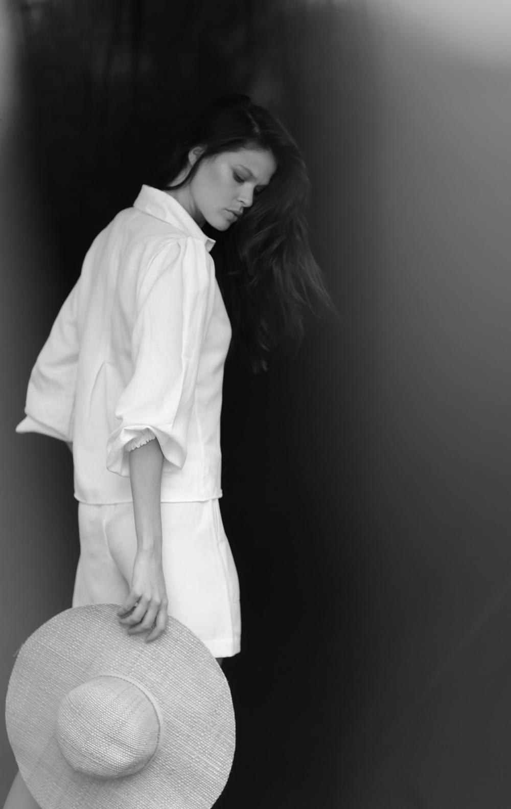 Camisa Linho Manga Princesa Off White - Foto 2