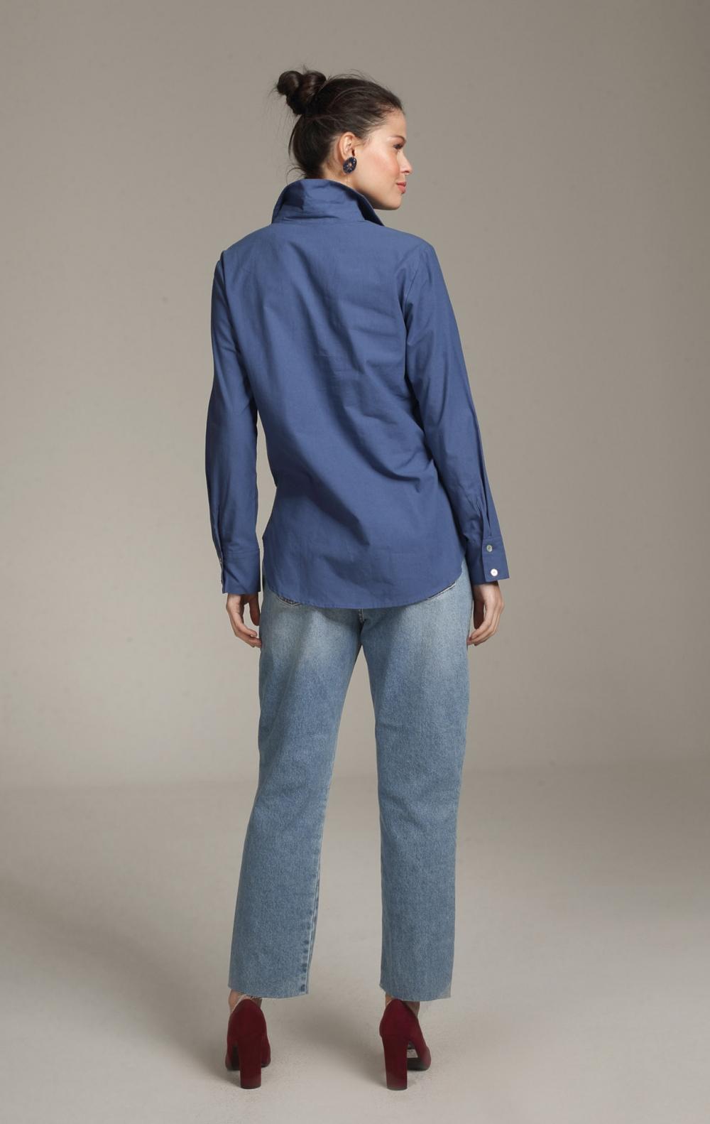 Camisa Margaret Longa Indigo - Foto 2